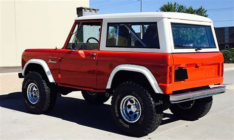auction block   fully restored  ford bronco