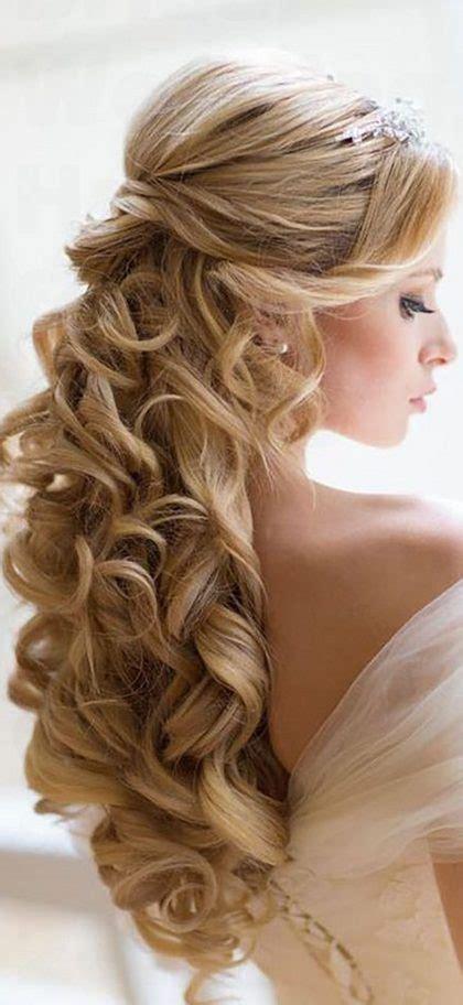 bridal wedding hairstyles  long hair  stand