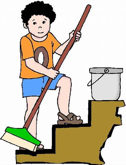 Cleaning Clip Clipart Housekeeping Clean Boy Doing