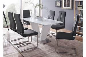 Table Blanche Design : table repas design extensible blanche cbc meubles ~ Teatrodelosmanantiales.com Idées de Décoration