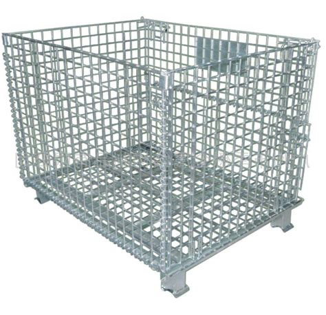 durable collapsible wire container industrial wire storage bins xx