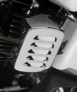 Ds Louvered Ignition Coil Cover Chrome Harley Davidson