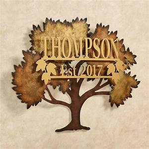 family tree personalized metal wall art by jasonw studios With personalized wall art