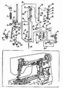 Presser Bar Assembly Diagram  U0026 Parts List For Model
