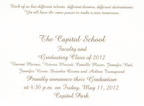 wedding program sle exle of graduation program invitation wedding