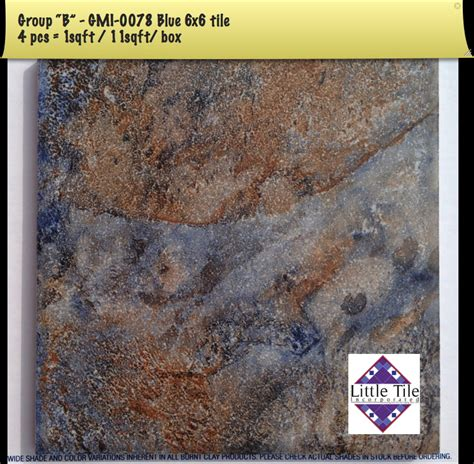 6x6 Blue Pool Tile by Gemini Series National Brands Pool Tile