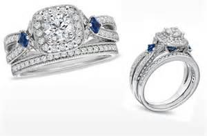 vera wang wedding rings vera wang engagement ring and sapphire wedding ring set onewed