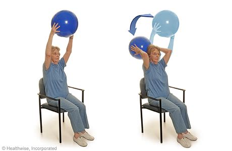 Geriatric Chair Exercises by Program B Seated Exercises With A Ball