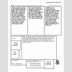 Singapore Math Worksheets Freeeducationalresourcescom
