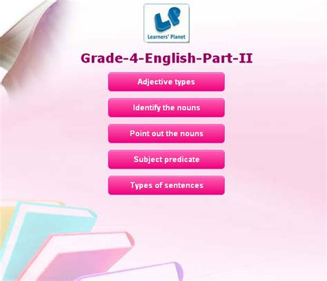 grade  english interactive quizzes  kids tutorials
