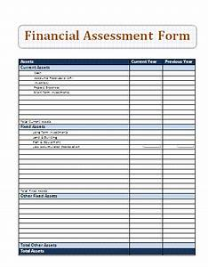 Financial assessment form a to z free printable sample forms for Financial assessment template