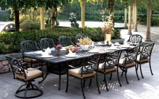 patio furniture dining set cast aluminum 120 quot rectangular