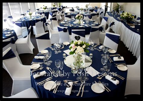 navy blue white and silver wedding theme