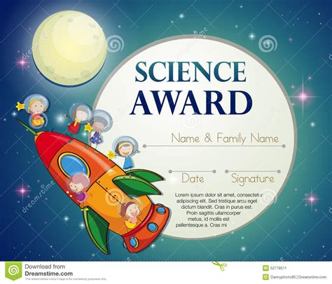 science award stock vector image  clipart knowledge
