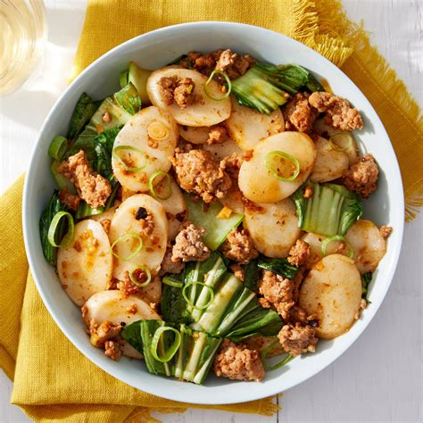recipe korean pork rice cakes  bok choy blue apron