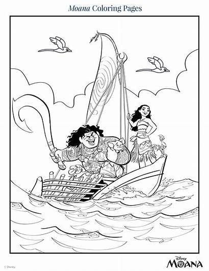 Coloring Pages Moana Disney Printable Pdf Drawings
