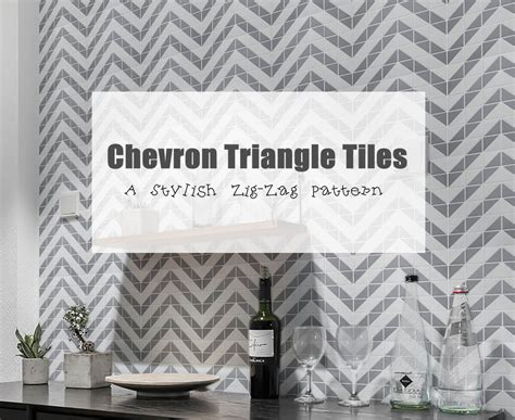chevron triangle tiles  stylish zig zag pattern ant