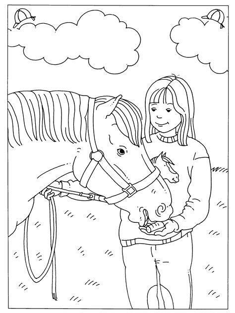 Kleurplaat Rapunzel Paard by Kleurplaten Paradijs Paarden
