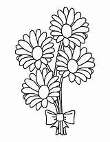 Coloring Bouquet Daisy Flowers Pages Drawing Flower Etsy Mason Jar Printable Sheets Adult Stencil Clipartmag Getdrawings Sold sketch template