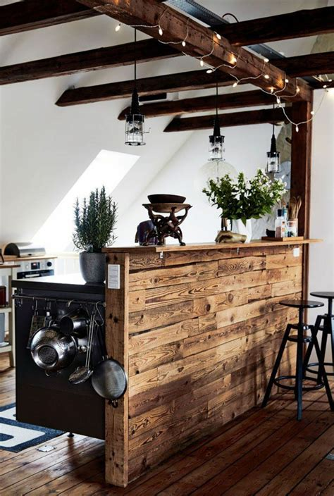 cuisine avec credence la poutre en bois dans 50 photos magnifiques