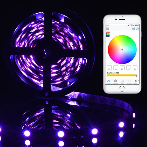 led wireless lights 5m rgb 5050 led wireless light wifi app