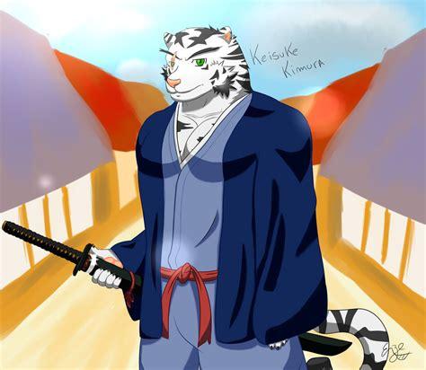 Samurai Furry Keisuke Kimura Tigre Blanco By
