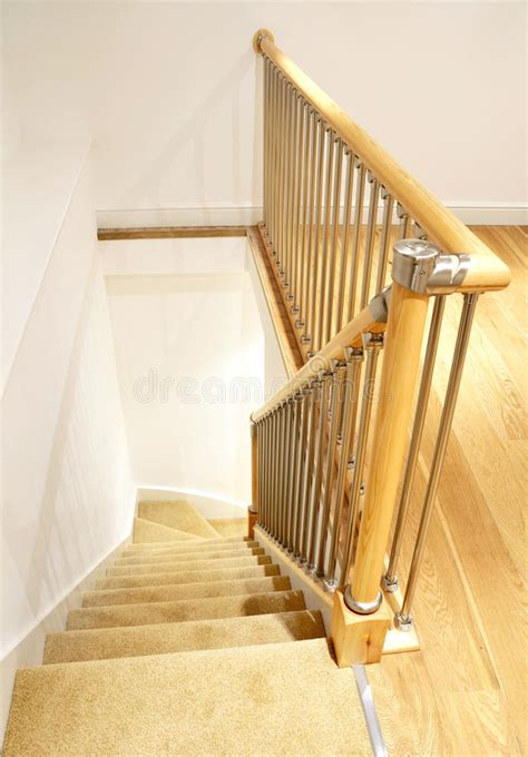 Chrome Banisters by Modern House Interior Stairs With Chrome Railing Stock