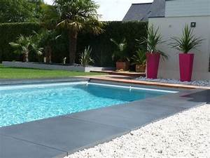 beton terrasse piscine zimerfreicom idees de design With wonderful plage piscine pierre naturelle 7 les piscines de forme libre