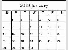2018年1月的日历 3 2019 2018 Calendar Printable with