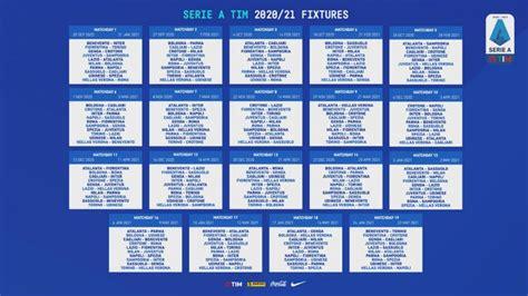 Serie A, calendario 2020-2021: Samp, Roma e Napoli subito ...