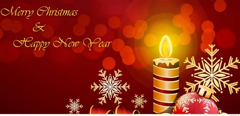 merry christmas   happy  year beautiful candle