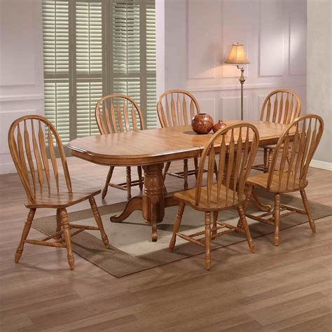 oak dining set  chairs dining room ideas