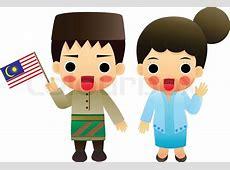 Cartoon ASEAN Malaysia Stock Vector Colourbox