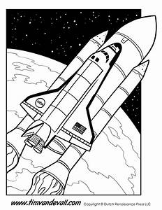 Space Shuttle Coloring Page - Tim's Printables