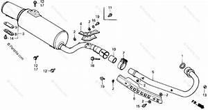 Honda Atv 1986 Oem Parts Diagram For Muffler