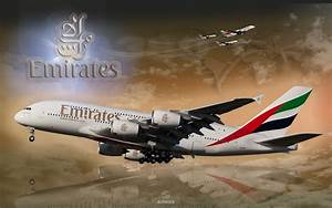 Wallpaper 1920 - Airbus A380 - Emirates Airlines - CS5 ...