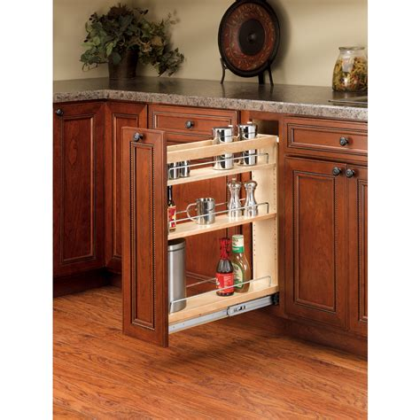 pull out cabinet shelves lowes shop rev a shelf 5 in w x 25 48 in h wood 1 tier cabinet
