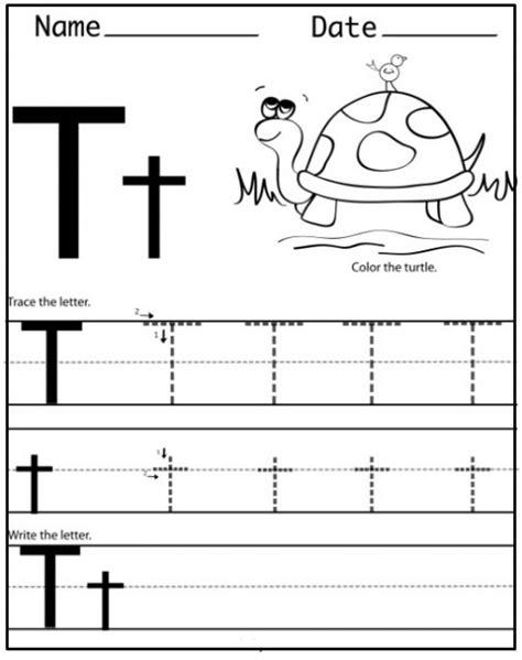 letter t tracing worksheets preschool free printable letter t worksheets for kindergarten 16550