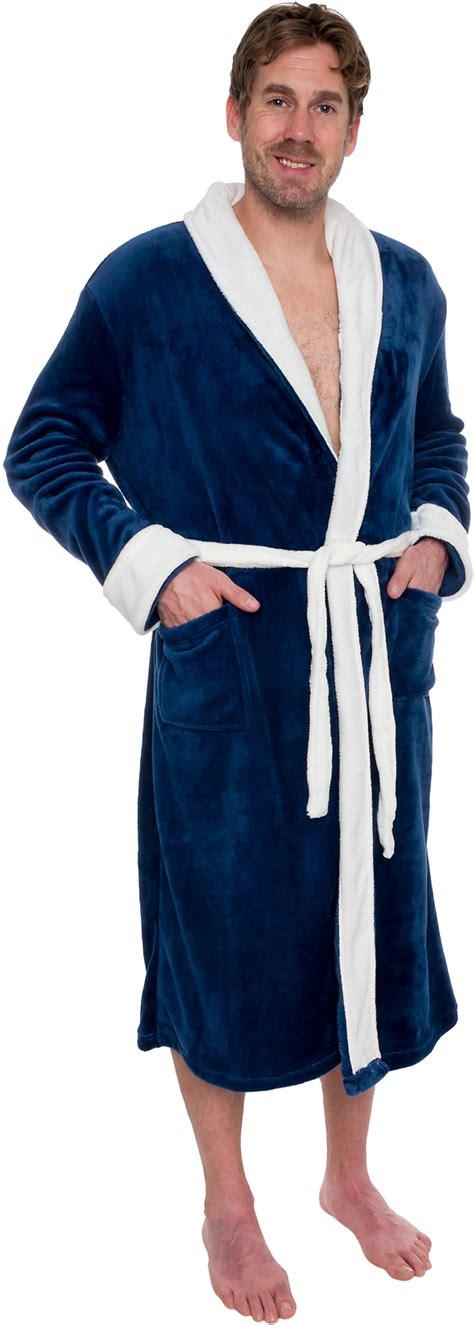 mens two tone plush shawl collar kimono bathrobe robe