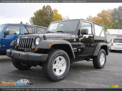 jeep dark gray 2010 jeep wrangler sport 4x4 black dark slate gray