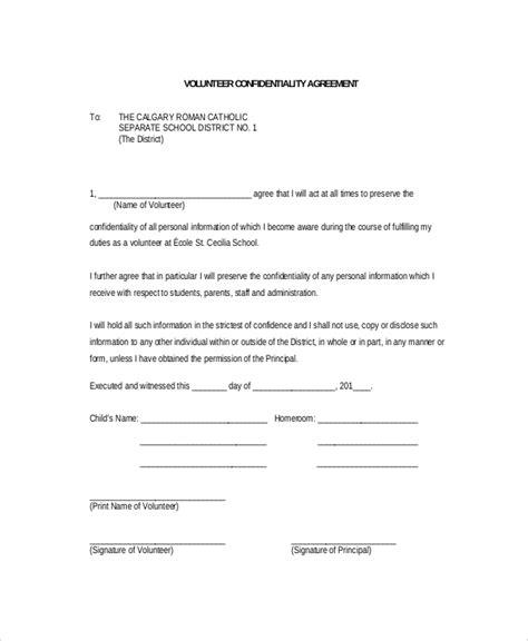 11 volunteer confidentiality agreement templates doc pdf free premium templates