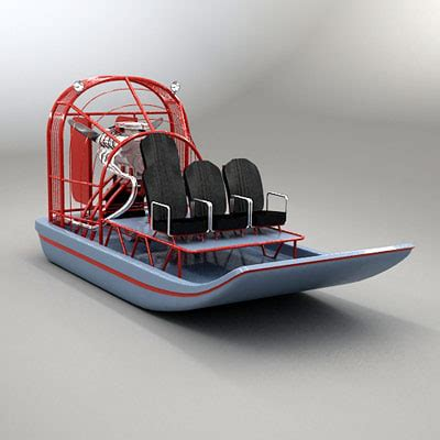 Model Airboats by 3d Model Of Airboat Air Boat