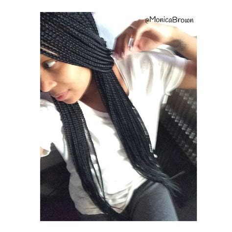 monica brown braids