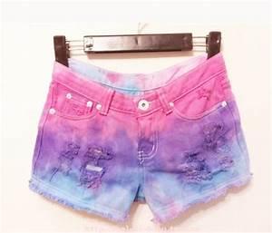 Red de moda shorts cortos de moda de colores 4