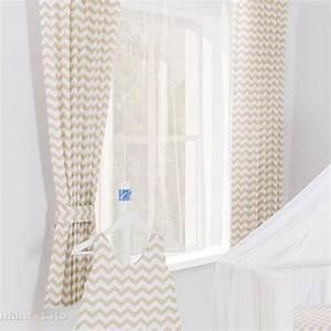 rideaux chambre bebe motif zigzag beige l jurassien With rideaux chambre d enfant