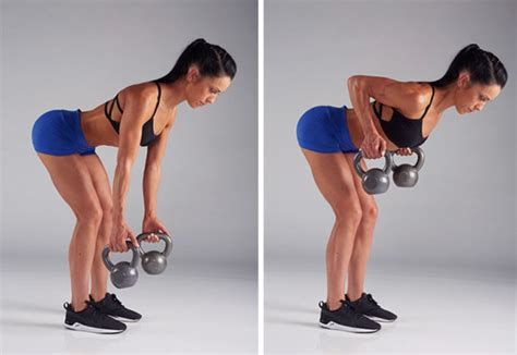 kettlebell row arm exercises bell kettle bent workout arms different hit shoulders workouts