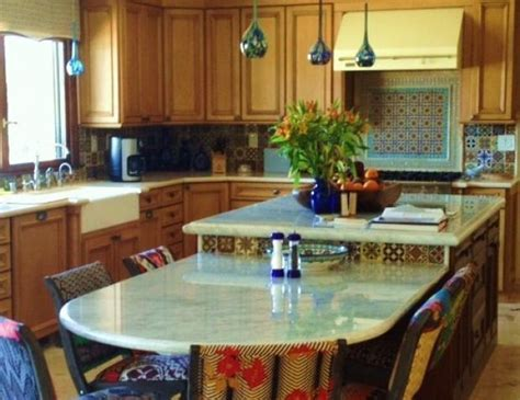 Bi level island, table height, and counter height, with