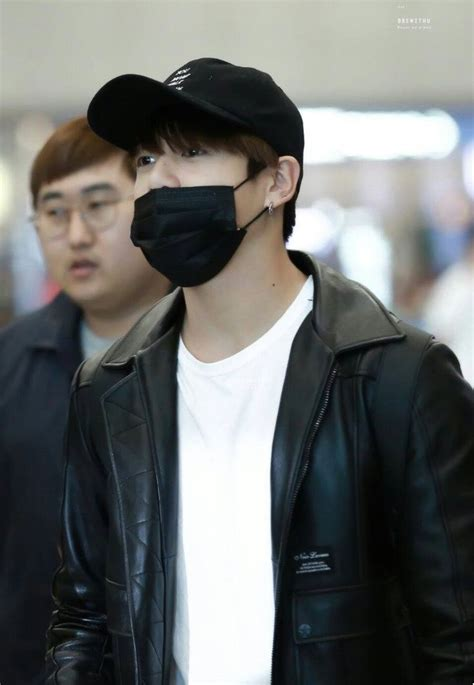 Jungkook in White shirt and black leather jacket is ...