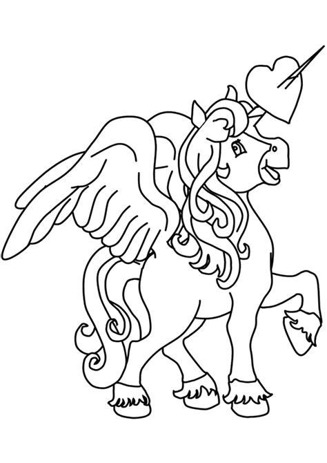 disegni da colorare degli unicorni  cuore blogmammait