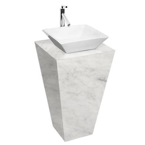 sustainable esprit bathroom pedestal vanity set by wyndham